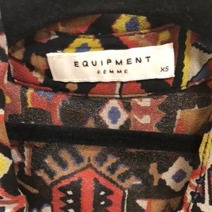 Equipment Tops - Equipment button down printed top in xs